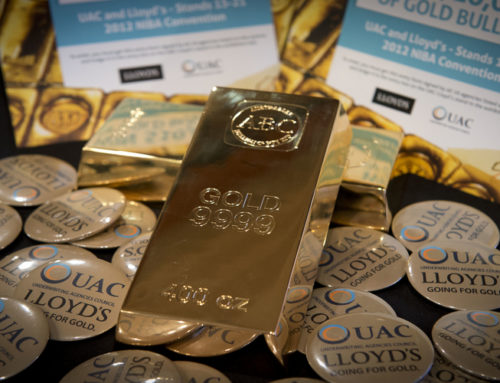 Gold bullion prize for a broker at UAC-Lloyd's Village